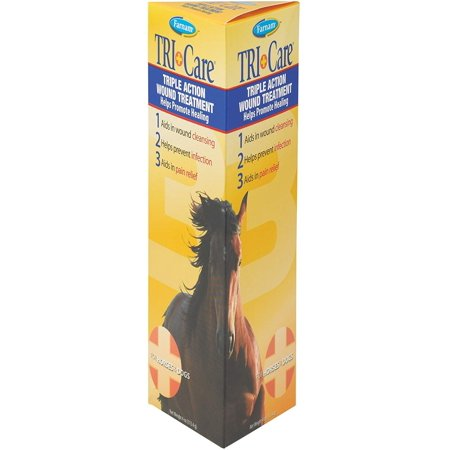Farnam Triple Action Wound Treatment | for Horses, Ponies and Dogs | 4 oz Open Wound Treatment
