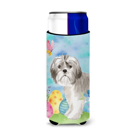 Easter Puppy (Easter Eggs Shih Tzu Puppy Michelob Ultra Hugger for slim cans)