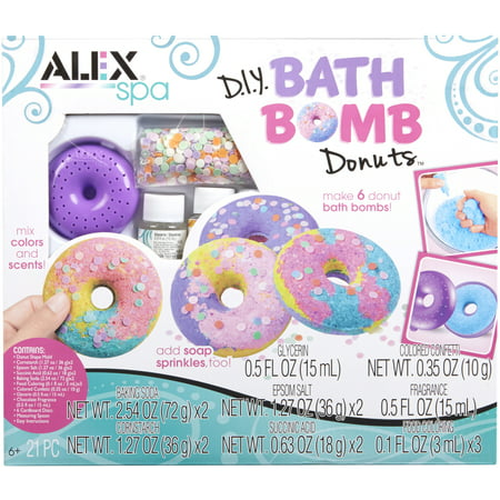 Alex Spa DIY Bath Bomb Donuts Kit - Mini Spa Kit