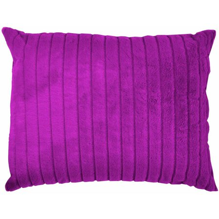 Your Zone Fuscia Channel Faux Fur Pillow Walmart Com