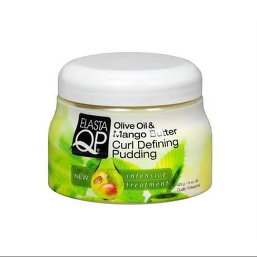 Elasta QP Olive Oil & Mango Butter Curl Defining Pudding, 15 oz (Pack of 3)