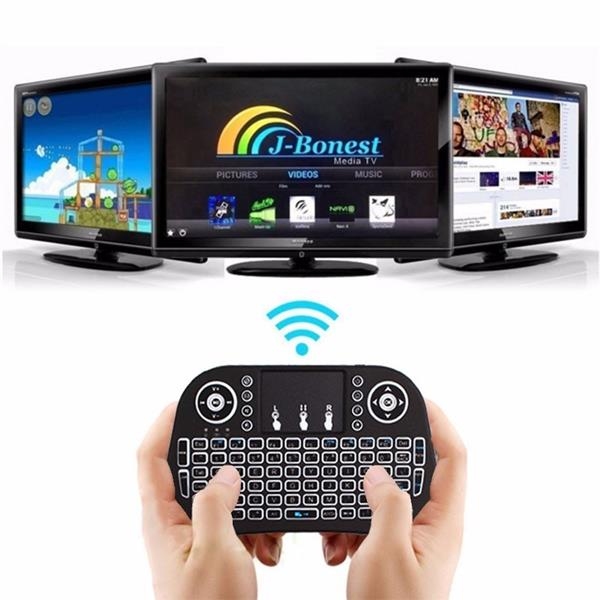 Mini i8 2.4G Air Mouse Wireless Keyboard with Touchpad Black