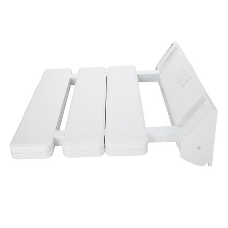 Yosoo Wall Mounted Drop-leaf Shower Seat Foldable Bathroom Bench for Home Sauna Room Use White, Drop-leaf Shower Seat, Wall Mounted Shower