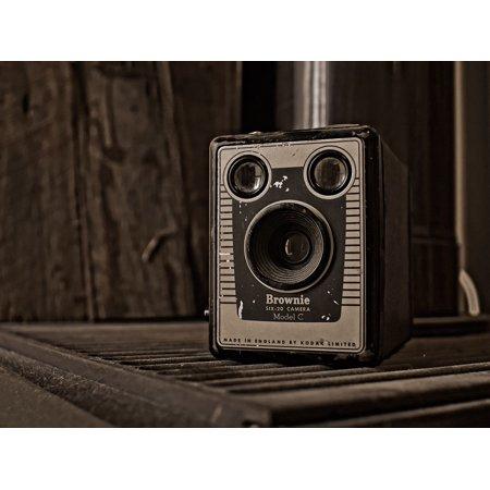 LAMINATED POSTER Sepia Brownie Box Vintage Kodak Six-20 Camera Poster Print 24 x 36