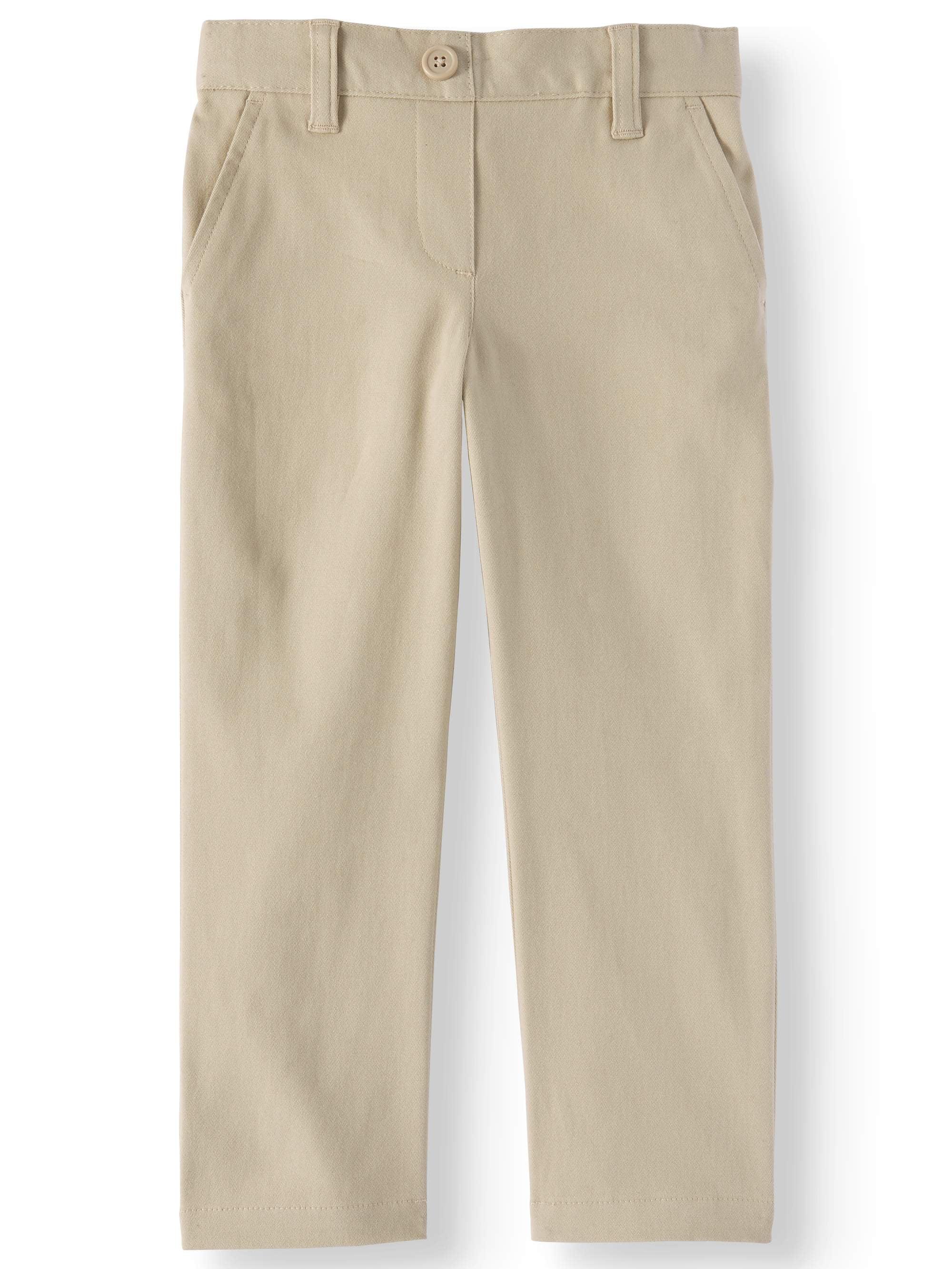 Toddler Girls School Uniform Stretch Twill Pants