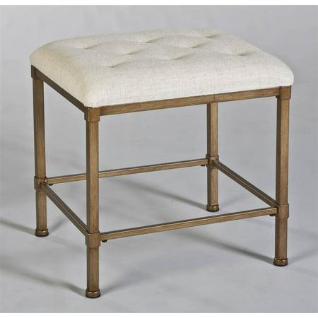 katherine backless vanity stool, golden bronze - walmart