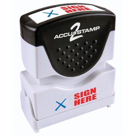 Accustamp2 Pre-Inked Message Stamp, SIGN HERE , 1/2
