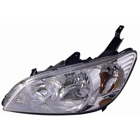 Go-Parts » 2004 - 2005 Honda Civic Front Headlight Headlamp Assembly Front Housing / Lens / Cover - Left (Driver) Side - (Gas Hybrid + Sedan + Coupe) 33151-S5A-A51 HO2502121 Replacement For