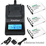 Kastar Ultra Fast Charger Kit and Battery (3_Pack) for Ol...