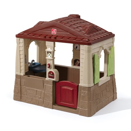 Step2 Neat and Tidy Cottage II Brown Playhouse, for Toddlers