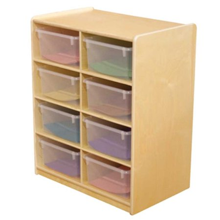 Wood Designs 18241 8 5 In. Letter Tray Storage Unit With Translucent Trays