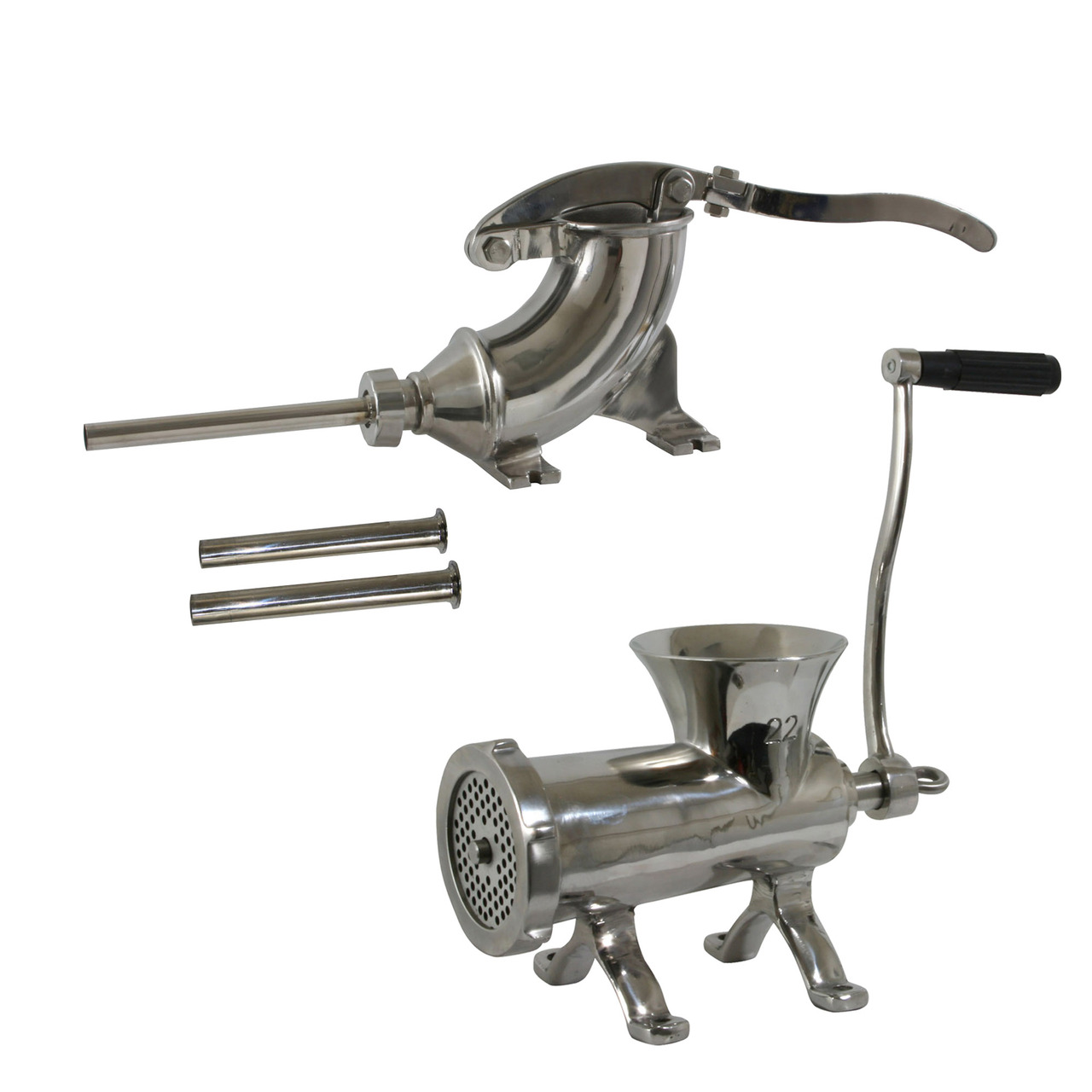 Click here to buy Sportsman Series SM07597SET Stainless Steel Meat Processing Set.