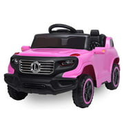 Kids Ride on Toys, Electric Ride on Car with Parental Remote Control, Music, Horn, Lights, Volume Control Functions, Electric Vehicle Cars for 3 Years Old Boy Girls, Pink, W4505