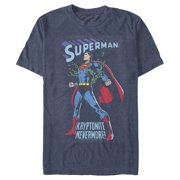 Superman Men's Kryptonite Nevermore Cover T-Shirt