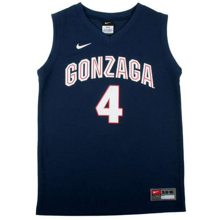 Nike Gonzaga Bulldogs Youth Replica Basketball Jersey   Navy  4