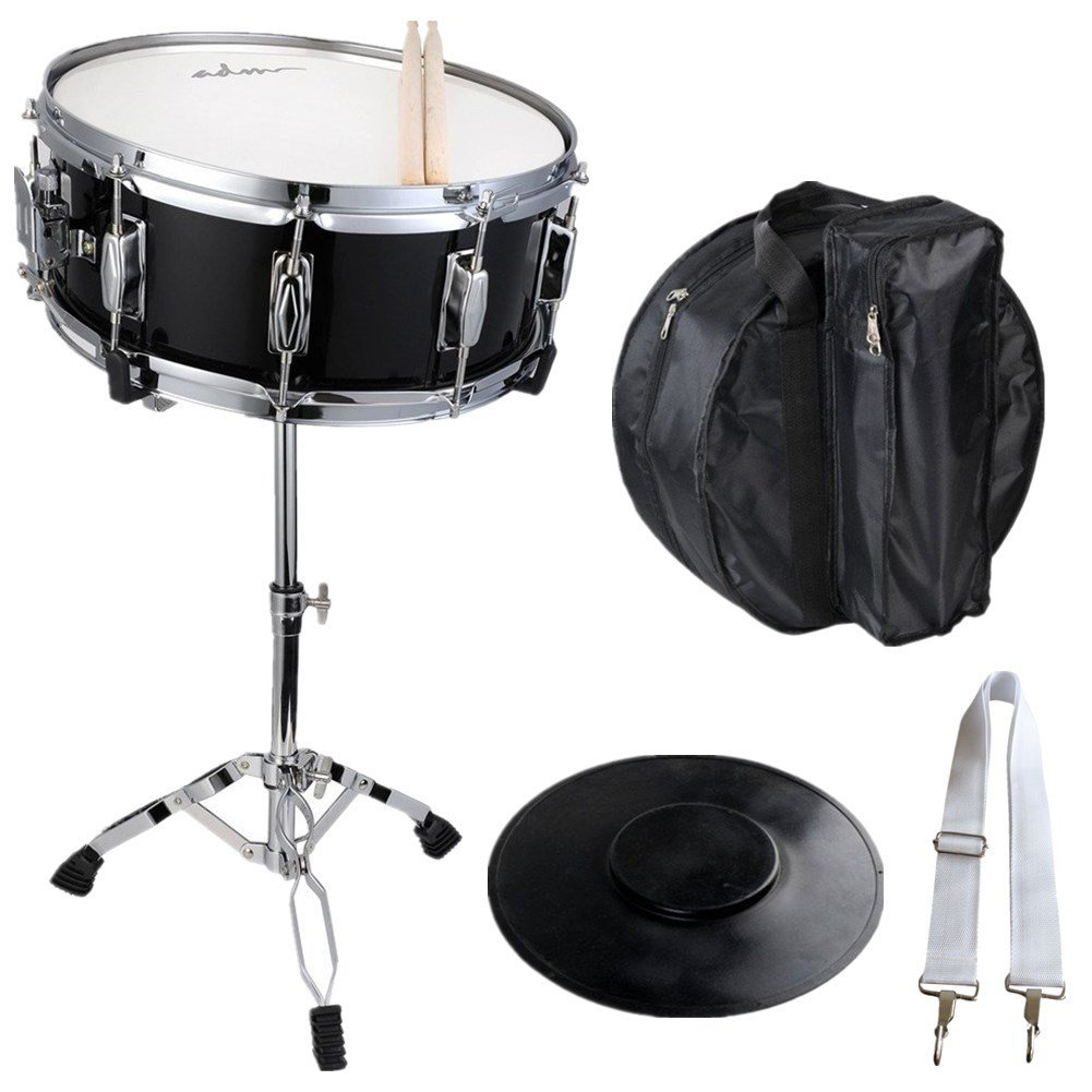 ADM Student Snare Drum Set with Case, Sticks, Stand and Practice Pad Kit by Adm