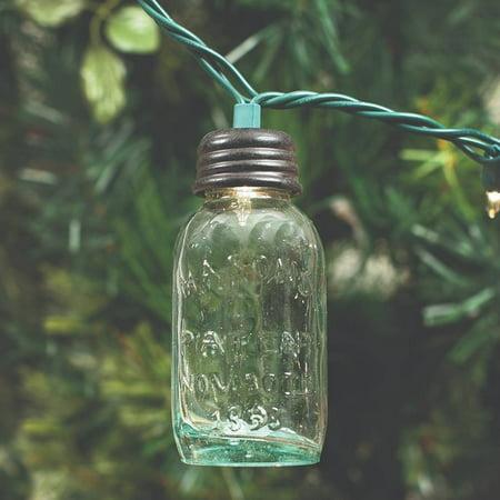 Glass Mason Jar Ornament ()