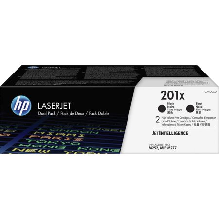 HP 201X 2-pack High Yield Black Original LaserJet Toner Cartridges