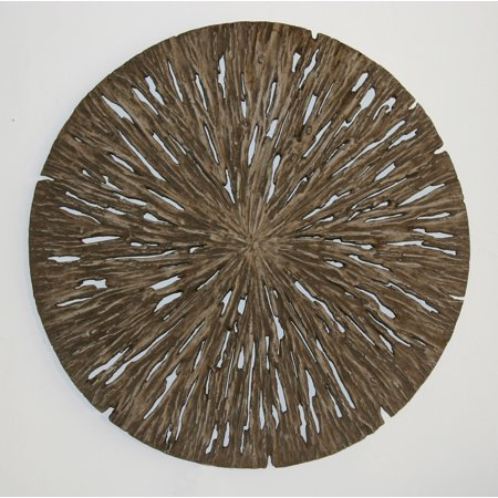Screen Gems Round Wall Decor, Rotten Wood Finish