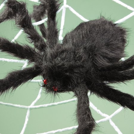 3 SIZES Halloween Prop Big Spider Webbing Indoor Outdoor Bar Decoration - image 4 of 6