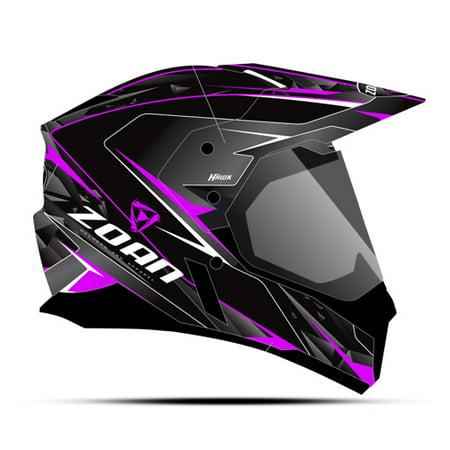 Zoan Synchrony Dual Sport Helmet   Hawk  Pink Magenta   Xl