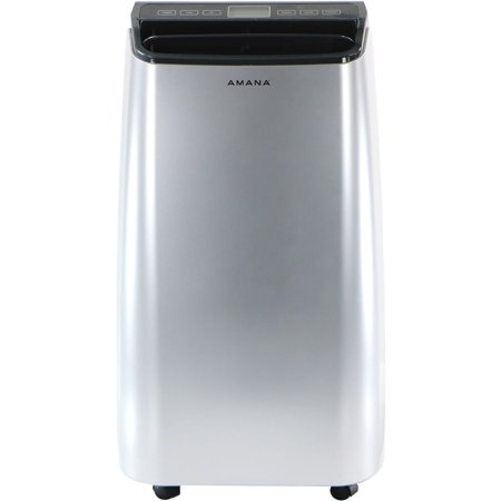 Amana Portable Air Conditioner with Remote Control in Silver/Gray for Rooms up to 250-Sq. Ft.