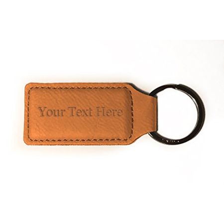 Customized 3D Laser Engraved Custom Personalized Keychain Gift (TAN)