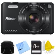 Nikon COOLPIX S7000 16MP 1080p HD Video Digital Camera with Deluxe Carrying Case, 8GB SD Memory Card, 3 Piece Lens Cleaning Kit, and Micro Fiber Cloth