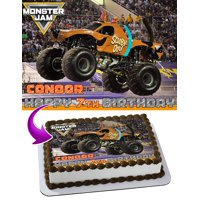 """Scooby-Doo Monster Jam Edible Cake Image Topper Personalized Birthday Party 1/4 Sheet (8""""x10.5"""")"""