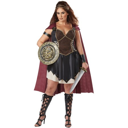 Glorious Gladiator Plus Size Adult Costume - Gladiator Costume For Women