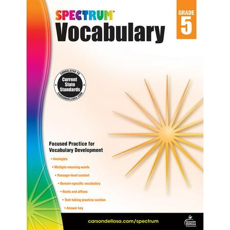 Spectrum Vocabulary, Grade 5 (Vocabulary Activity 5 The Organization Of Congress)