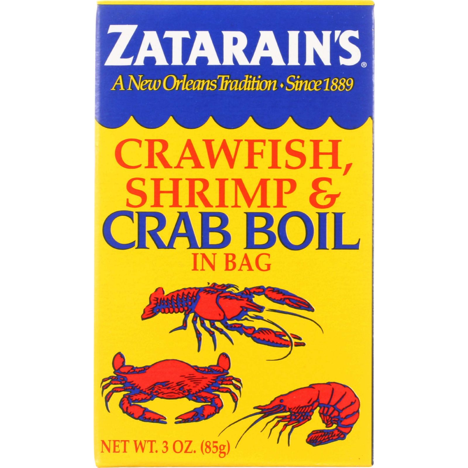 Zatarains Seafood Boil Crawfish Shrimp and Crab In a Bag 3 oz case of 12 by