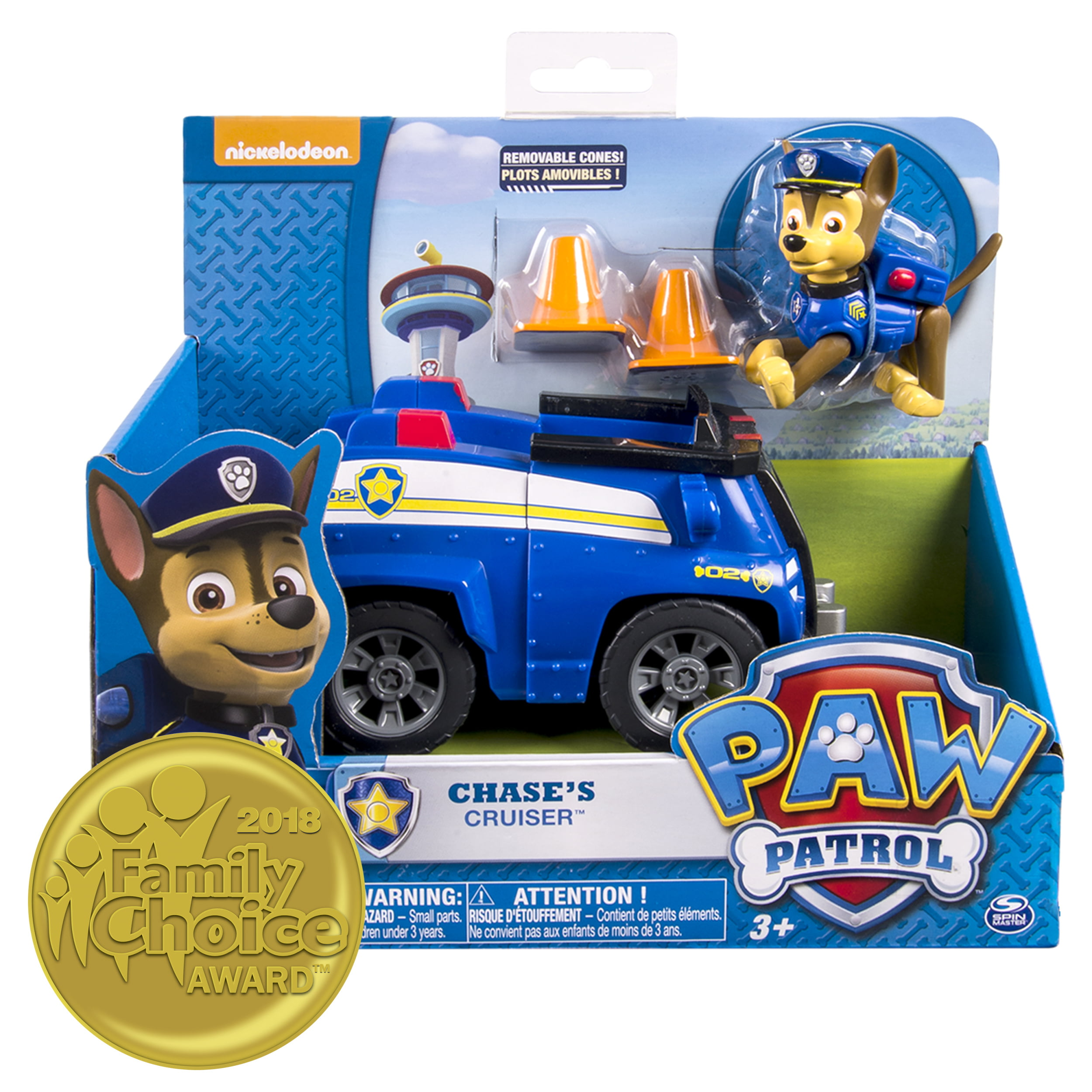 Paw Patrol Chase S Cruiser Vehicle And Figure Walmart Com
