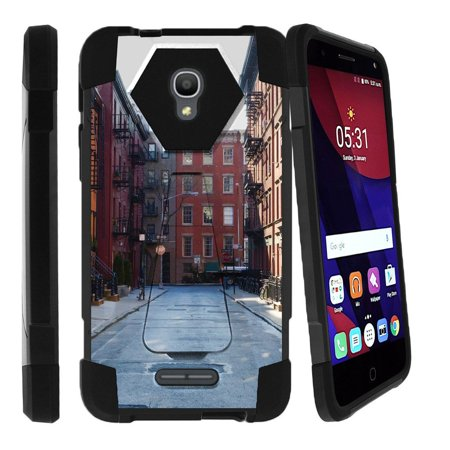 City Fusion - Alcatel OneTouch Fierce 4 Case | Fierce 4Case [ Shock Fusion ] Hybrid Layers and Kickstand Case City Travel Series
