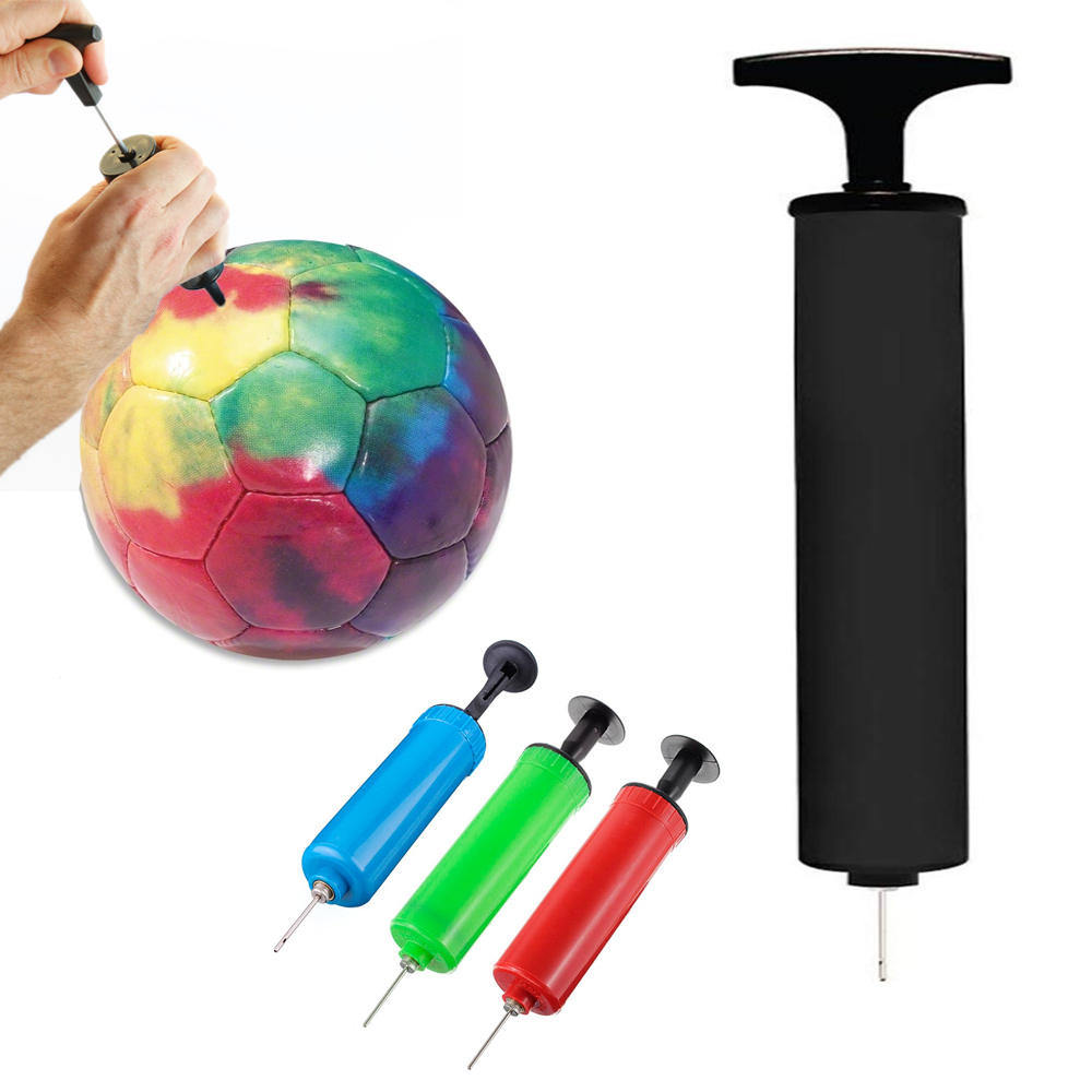 AllTopBargains 6 Sports Ball Manual Hand Air Pump Inflate Basketball Football Volleyball Needle