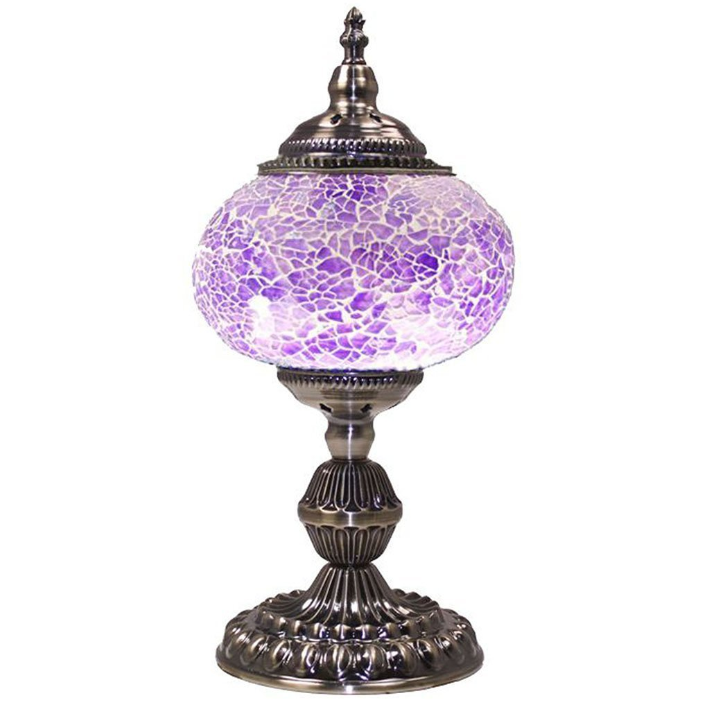 Silver Fever Handcrafted Mosaic Turkish Lamp Moroccan