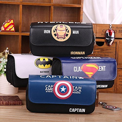 Pencil Case Pen Bag 1PC  Large Capacity Double Decker Pencil Pouch for School Boys Color Style at Random
