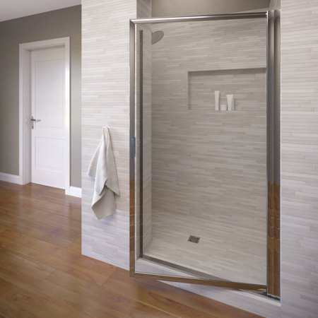 Basco Sopora 32.88'' x 63.5'' Pivot Framed Shower (Glass Pivot Shower Door)