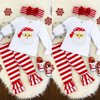 Newborn Kids Baby Girl Tops Blouse Dress+Pants Leggings Outfit Christmas Clothes