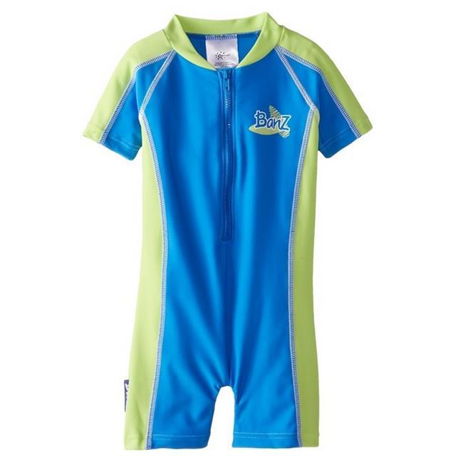 Banz BZ14-S1-CG-00 Baby Swimsuit, Blue & Green - Size 00 - image 1 de 1