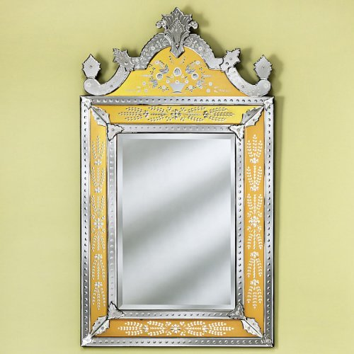 Small Natashe Gold Venetian Wall Mirror - 25.5W x 43.5H in.