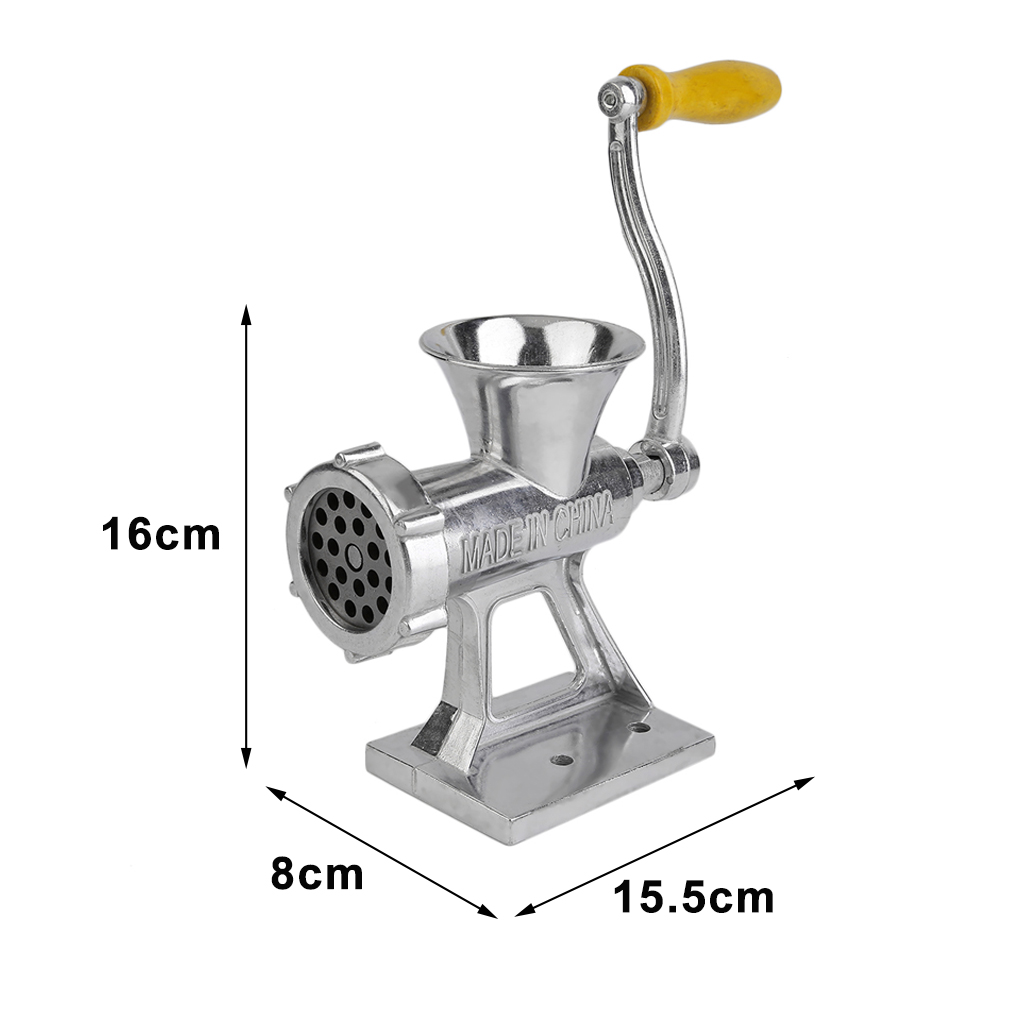 2017 Hand Operated Sausage Meat Grinder Mincer Machine Home Kitchen Cooking Tool by YKS