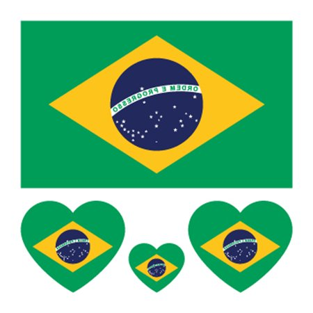 Environmental Protection Waterproof and Anti-sweat National Flag Tattoos Stickers Football Fan Sticker