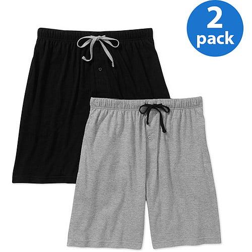ef5018b6d75 Hanes - Men s 2 Pack Knit Shorts - Walmart.com