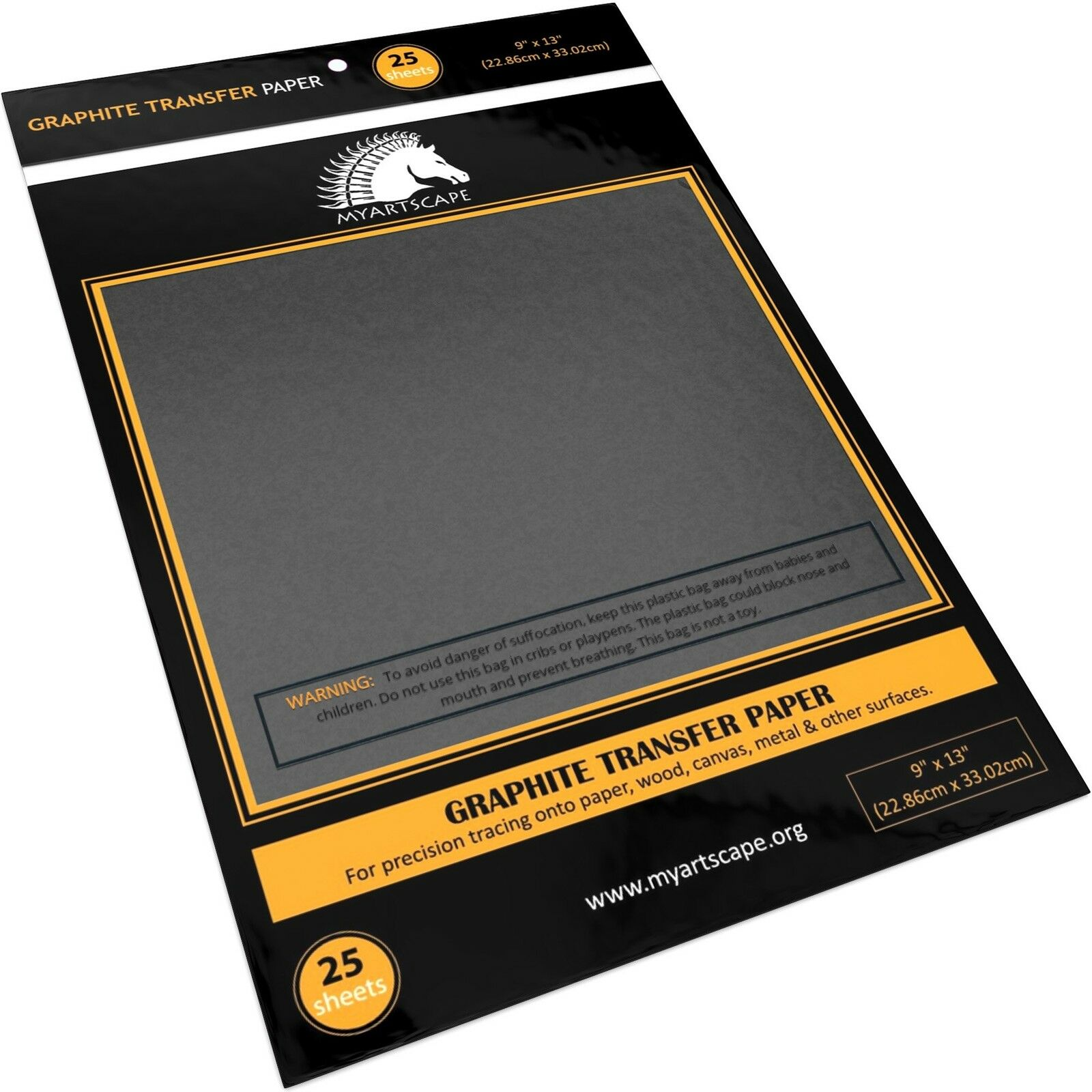 "Graphite Transfer Carbon Paper 25 SHeets (9"" x 13"") Black Tracing Paper f... by"