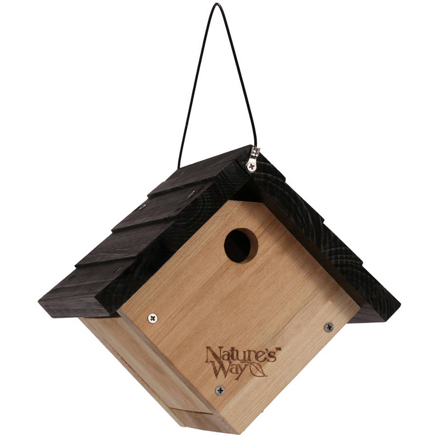 "Nature's Way CWH1 8"" H x 8-7/8"" W x 8-1/8"" D Cedar Traditional Wren House"