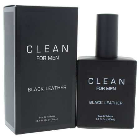 Clean Black Leather Eau de toilette Spray For Men 3.4 oz