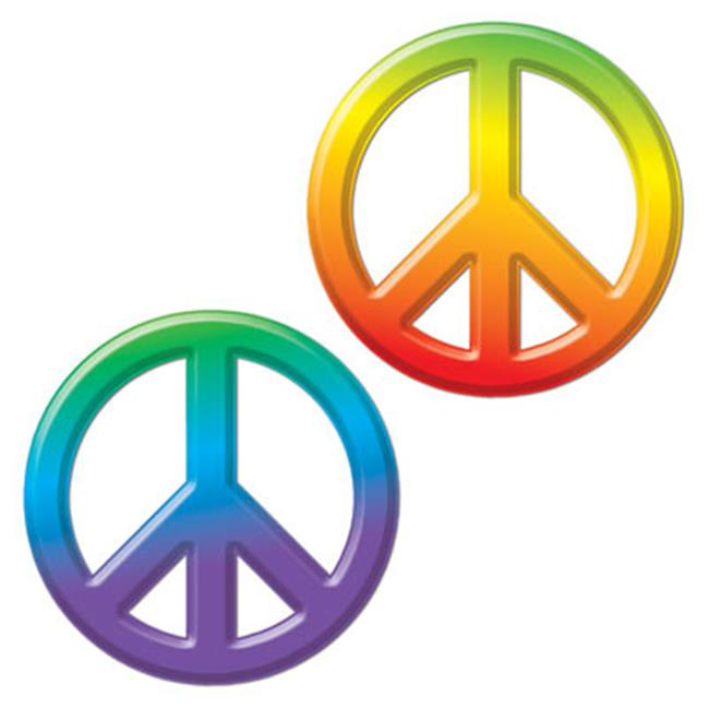Beistle 54301 Plastic Peace Sign, Pack Of 24