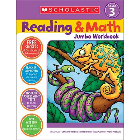 Reading & Math Jumbo Workbook: Grade 3](Halloween Math Ideas First Grade)