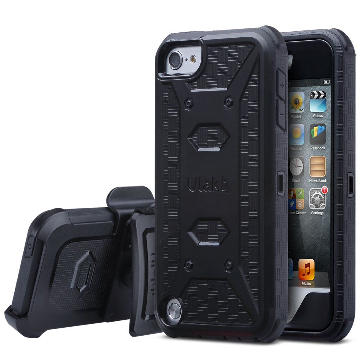 For iPod touch 6th gen iPhone SE 5s 5 Leather Case Pouch Cover Belt Clip Holster